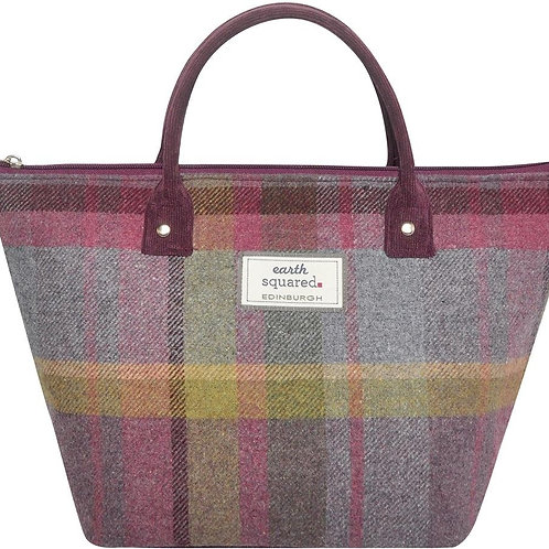 Small Tweed Tote Bag - Thistle