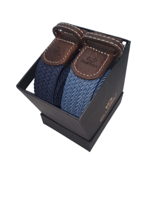 Christmas Billy Belt Gift Box - Navy & Airforce Blue - Size 1