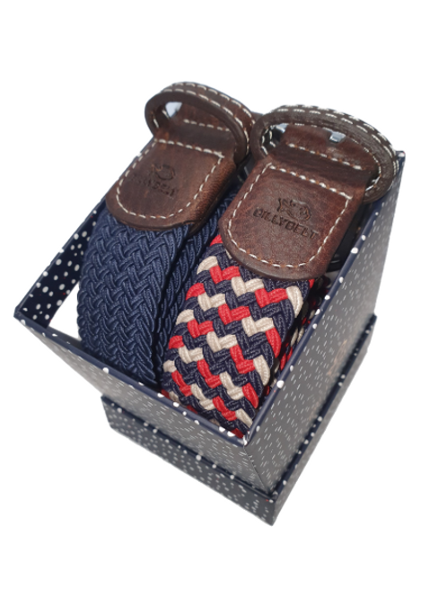 Christmas Billy Belt Gift Box - Navy & The Amsterdam - Size 1