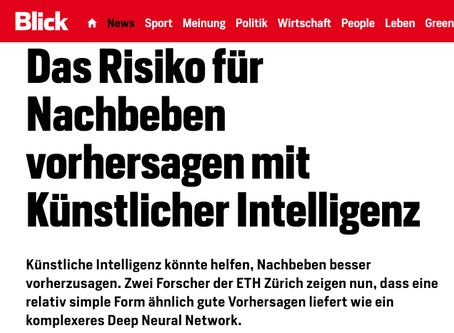 The Swiss media Blick reporting our last Nature paper