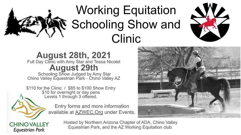 Tessas schooling show CV SShow and Clini
