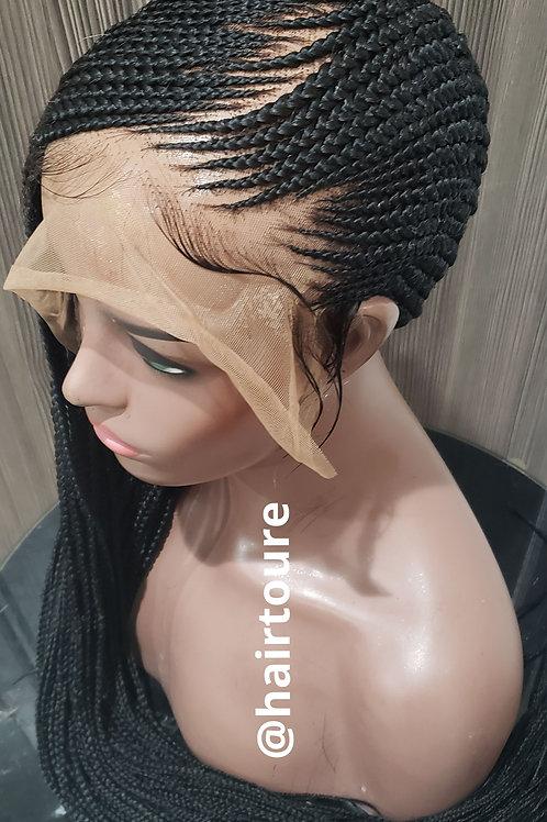 Lace Front Lemonade Zig Zagpart Braided Wig