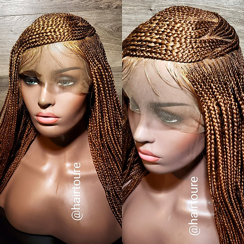 27/30 Mixed ZigZag Side Part Crown Full Lace Wig