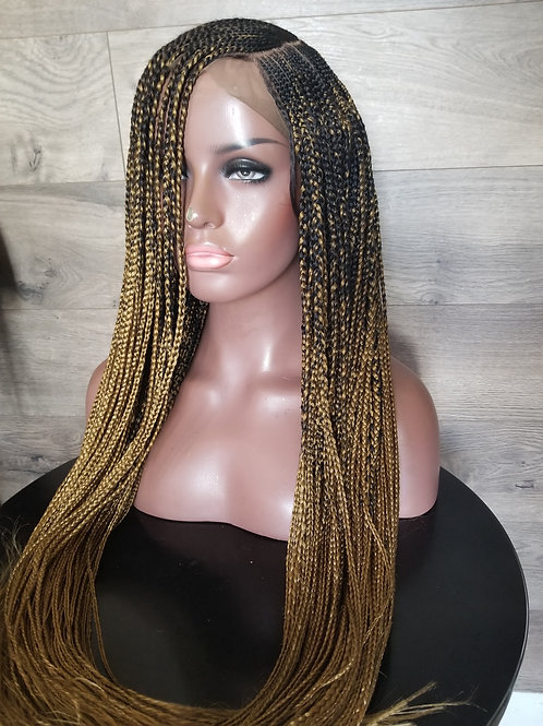Hand Made C Part Braided Frontal Wig