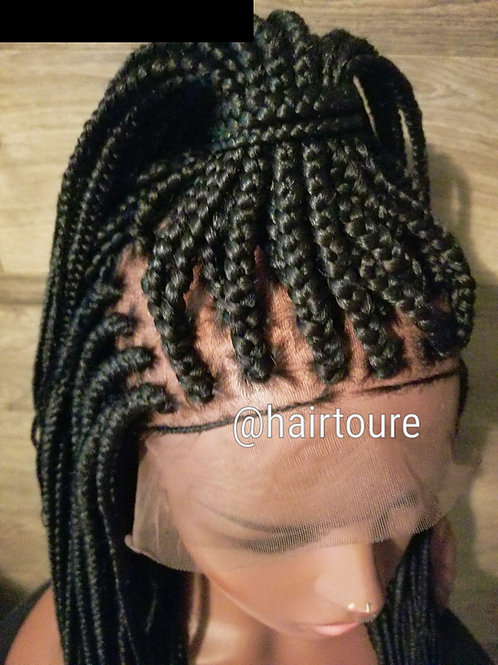 Box Braided Frontal Wig