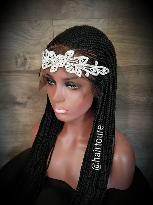 Hand Made Braided Lace Frontal Wig Style BB