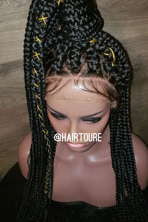 "32"" Big Poetic Braided Full Lace Wig"