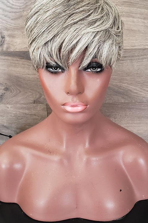 Grey Pixie Cut Bond-In Wig