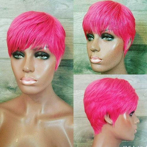 Hot Pink Bondin Pixie Cut Wig