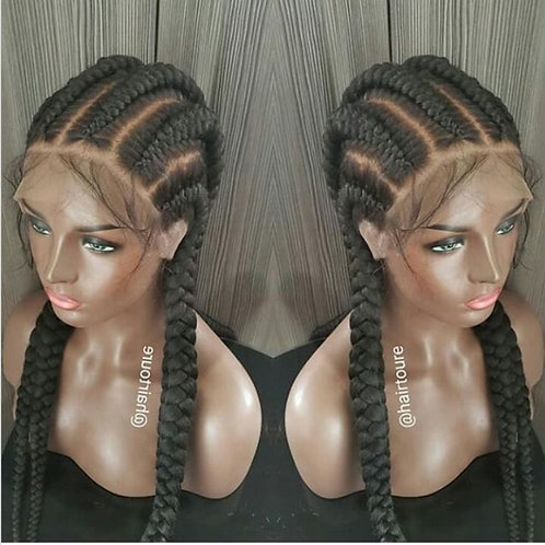 Large Feed In  Full Lace Braids Going Back