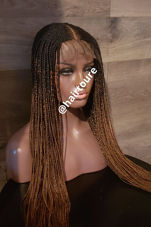 Part In The Middle Closure Braided Wig