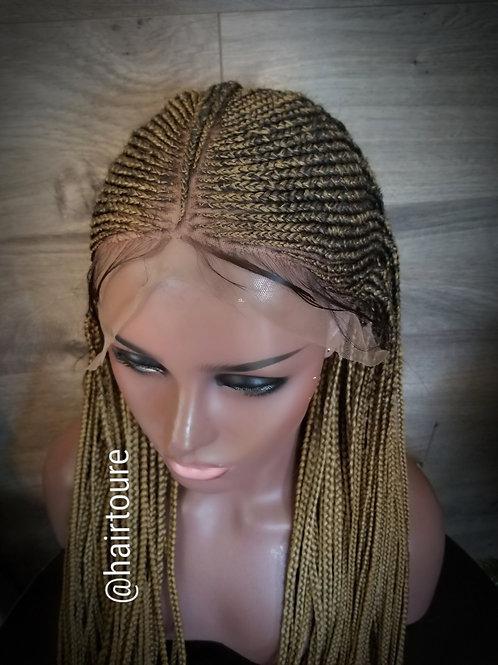 Custom Cornrow Tribal Blonde (Style2) Frontal Wig
