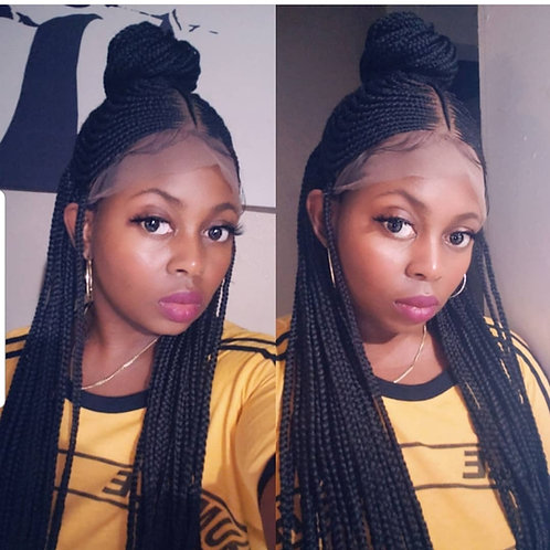 Tribal.Center Pony Full Lace Braided Wig