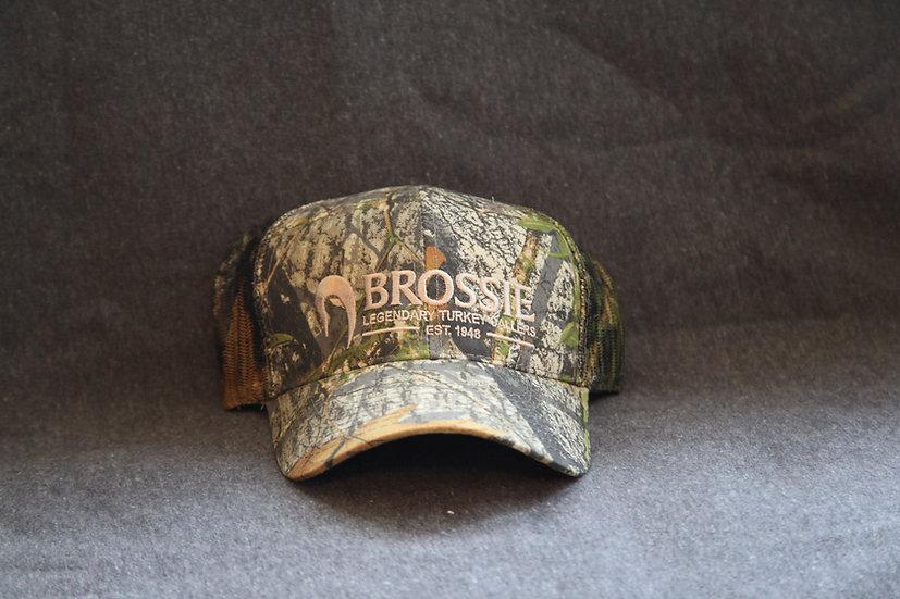Brossie® CamoTrucker Cap-Tan Logo