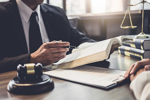 businesswoman-male-lawyer-judge-consult-