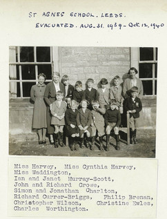 St Agnes School Leeds Evacuted 1939-1940
