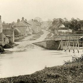 Ford & footbridge: view up Church Street
