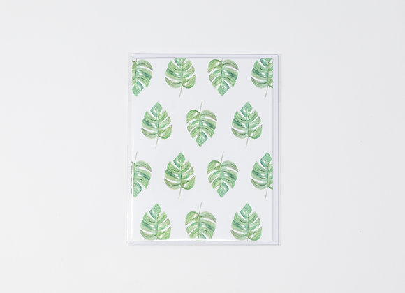 Monstera Leaves Everyday Card