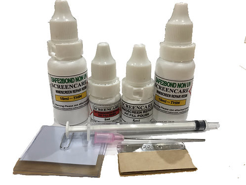 NON UV Windscreen Repair 20ml Resin Pack Kit