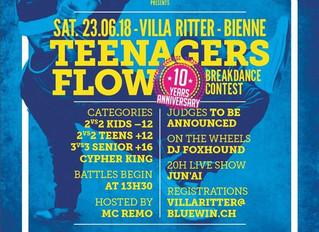 Teenagers Flow Vol.10 - 23.06.2018 - 13h30