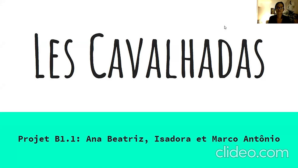 Les Cavalhadas - Projet B1.1
