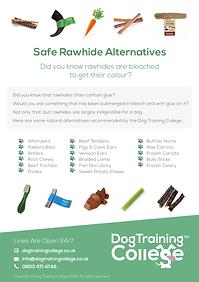 Dog Training College Safe Rawhide Altern