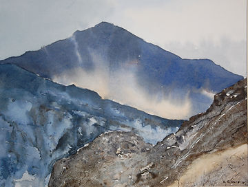moel hebog  watercolour