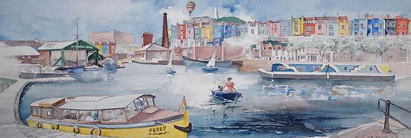 Harbourside, Bristol.  Print