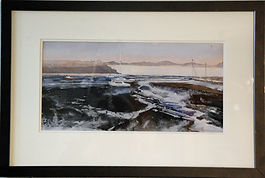 Low Tide, Rhos, framed.jpg