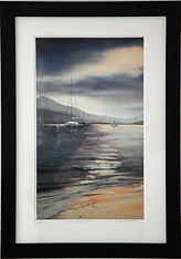 Blue Dusk, Bala Lake print framed web.jp