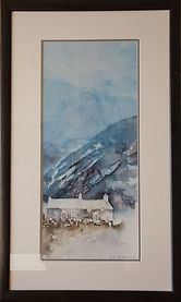 Dyserth falls. Original watercolour. Framed