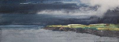 Pembrokeshire Headland. Print