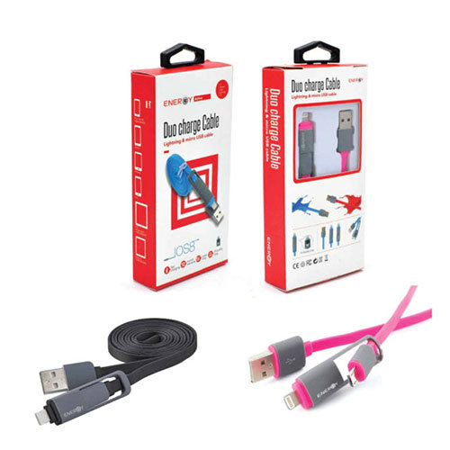 Data Cable 2 IN 1 Micro usb & Lightning