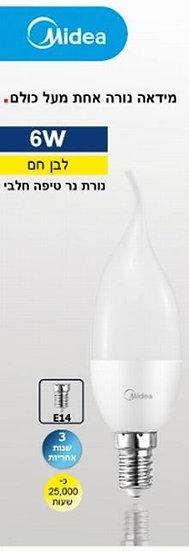 מנורת נר טיפה חלבית 3000 K-6W