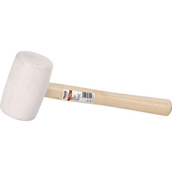 פטיש גומי לבן, ידית עץ 700 גרם