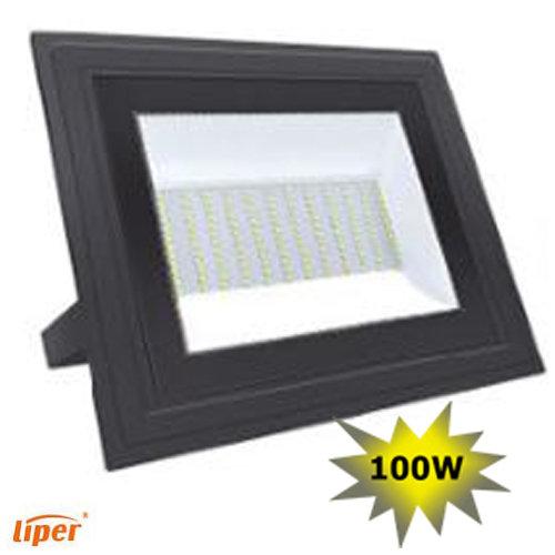 פנס הצפה אלומיניום ניוליין צבע שחור 100W אור קר LIPER