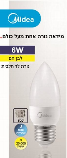 E27 6W-3000K לד מנורת