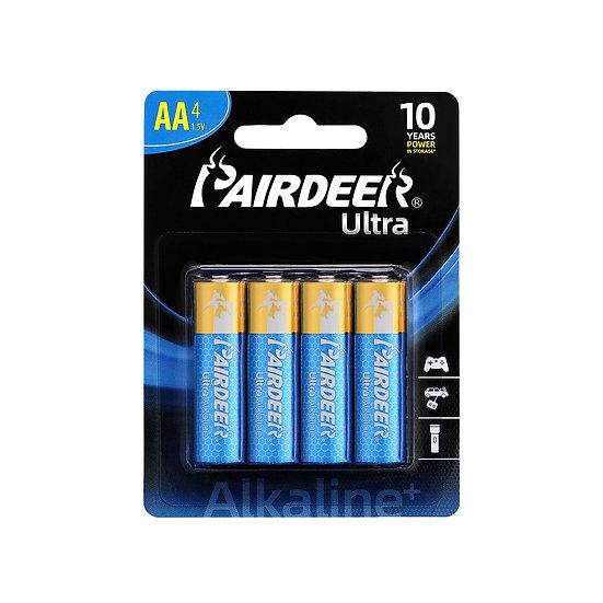 בליסטר 4 סוללות AA אולטרה אלקליין PAIRDEER