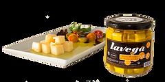 Tarro de tacos de queso de oveja en aceite de oliva