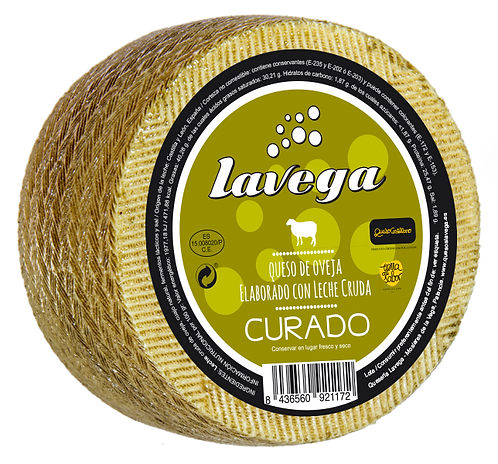 Quesos Lavega, Oveja curado elaborado con leche cruda