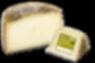Queso de oveja semicurado elaborado con leche cruda