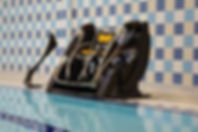 Disabled swimming pool access chair