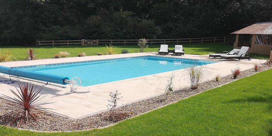 Swimming pool built by Leisure Pools Ltd, Tewkesbury