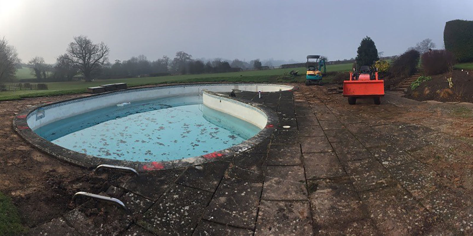 Old swimming pool