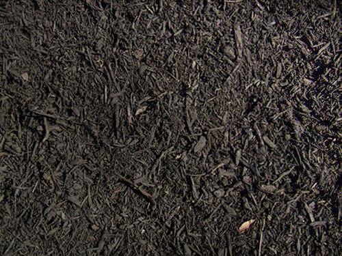 Black Colored Enhanced Mulch