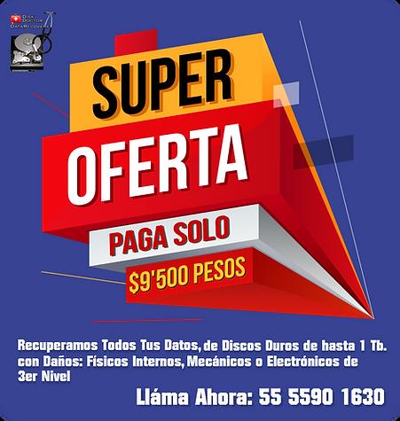 Promo Oferta Diskdoctor 1 Tb 9500 pesos.