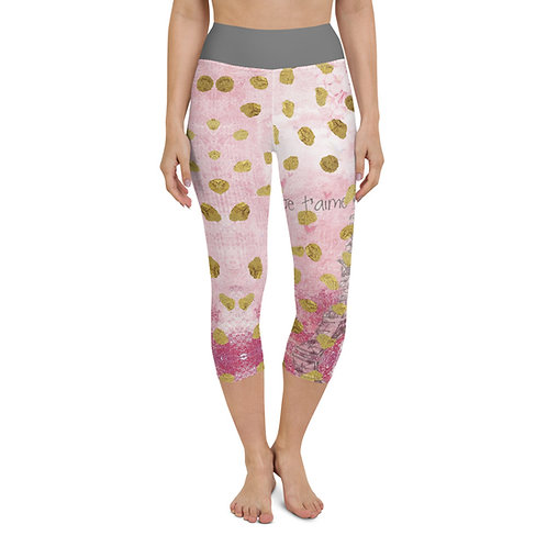 Paris Je t'aime Yoga Capri Leggings