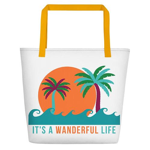 It's a Wanderful Life Beach Bag