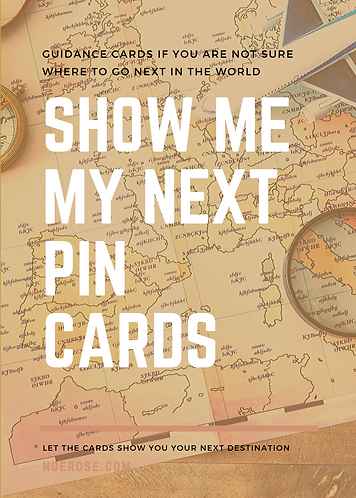"""Show Me My Next Pin"" deck of Cards"