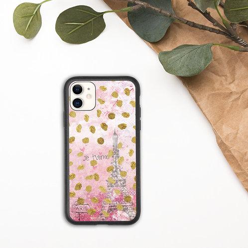 Paris Je  t'aime Biodegradable phone case
